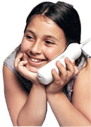 Little Girl on telephone